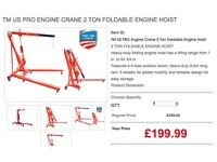 Toolmate TM US PRO Engine Crane 2 Ton Foldable Engine Hoist