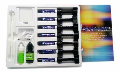 Prime-dent Light Cure Hybrid Dental Resin Composite 7 Syringe Kit Fda