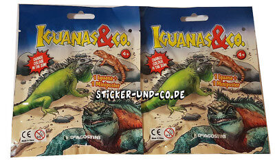 DeAgostini Iguanas & Co 2 Booster Tüten Iguanas und Co Leguane und Co Eidechsen