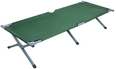Deluxe Outdoor Folding Cot Camping Hiking Sleeping Medical Fish Bed Army Green