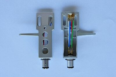 Gold Headshell - NEW Silver Turntable Headshell fits Technics SL1200 MK2 Gold Plated Leads Wires