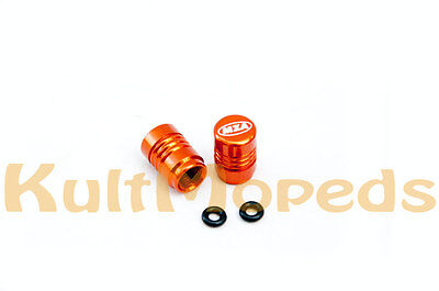 Ventilkappen Ventilkappe Auto Motorrad VW Opel BMW Honda Suzuki Ventil orange