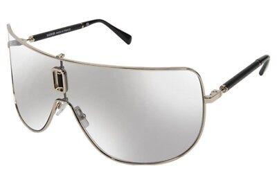Authentic BALMAIN Shield Sunglasses BL 8090 C01 Gold-Black / Grey Gradient Lens - Gradient Shield Lens Sunglasses