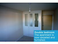 Modern one bedroom apartment, fully fitted kitchen, safe and secure with parking.