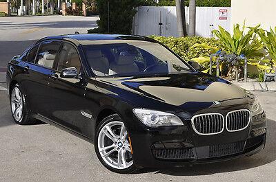 2012 BMW 7-Series 760li V-12 M-SPORT!! 2012 BMW 760Li M-Sport! Low Miles Black over Oyster White Not 750li Alpina