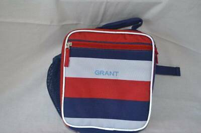 Pottery Barn Kids Fairfax Classic Lunch Rugby Stripes Grant Monogram