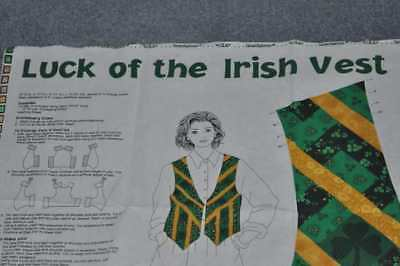 1 YARD CUT AND SEW PANEL FOR  ST. PATRICK'S DAY / IRISH VEST