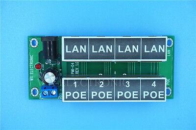 4 port PoE Injector/PoE power supply for camera, AP support 12V 24V 48V