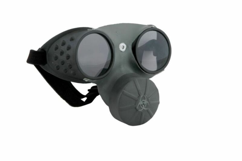 Steampunk Hazmat Costume Gas Mask Adult ELS42710