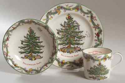 Spode CHRISTMAS TREE (GREEN TRIM) Millennium Child's Set 4476480