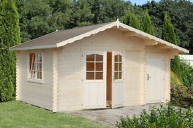 LOG CABIN WITH SIDE STORE OFFER