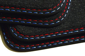 Fußmatten für BMW M5 5er E60 E61 Original Doppelnaht Velours Autoteppiche Neu