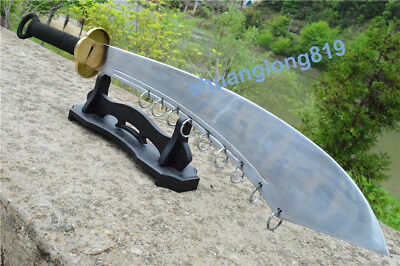Unique KungFu Nine Ring Broadsword DaDao Sword Sharp High Carbon Steel Blade Dao for sale  Shipping to Canada