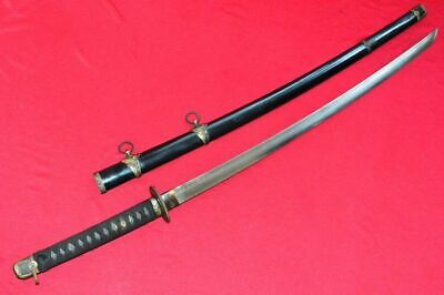 Vintage Japanese Sword Samurai Katana Sharpen Signed Blade Steel With Sheath