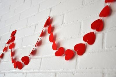 *VALENTINE'S DAY* 9 Foot Ft Felt Heart Garland Chain Photo Prop Decor Decoration