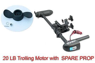 Trolling Motor 20 lbs Electric w battery indicator KAYAK SUP MOTOR + SPARE (Electric Trolling Motor Batteries)