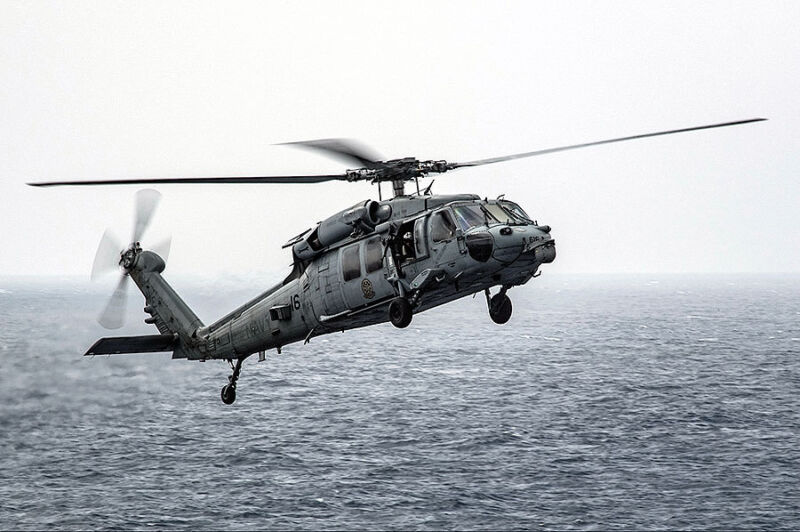 MH-60S SEA HAWK BLACK KNIGHTS HSC 4 HELICOPTER 12x18 SILVER HALIDE PHOTO PRINT