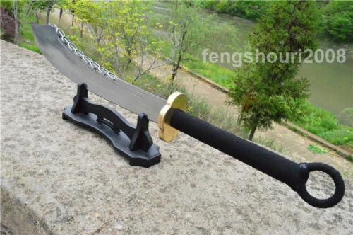 Nice KungFu Nine Rings Dao Broadsword Sword Sharp 1090 High Carbon Steel Blade