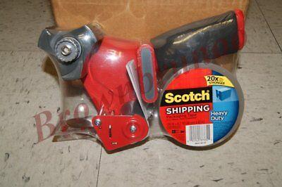 3m Scotch Heavy Duty Shipping Packing Tape Dispenser Gun W 1 Roll 1.88 Tape