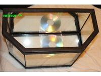 Nice small fish tank unused, 40x25x20cm, volume~17l, rear mirror wall, black plastic frame