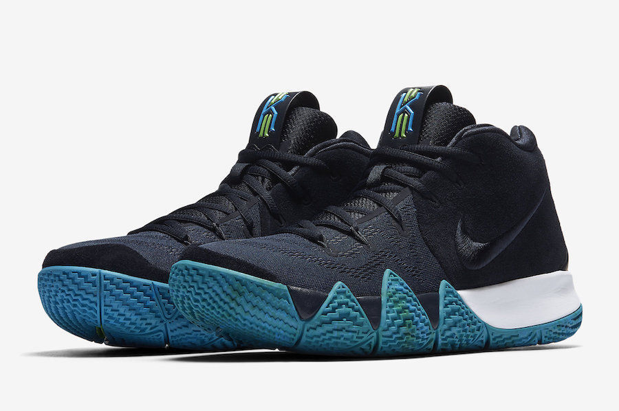 Nike KYRIE 4 Mens Basketball Shoes Dark Obsidian Black 94380