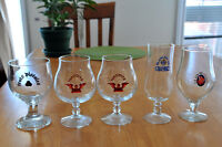 5 Verres unibroue collection + 6 verres plastique disney 1994