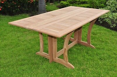TEAK DINING SET CONSOLE TABLE OUTDOOR PATIO FURNITURE NEW - WARW DECK ()