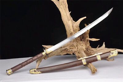 High Quality Fighting Saber Broadsword Sword Very Sharp Damascus Steel Blade for sale  Shipping to Canada