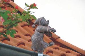 Schlafwandler Dachrinnenfigur Dekoration Dachschmuck Gartendekoration Zierfigur