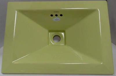 Ronbow Ceramic - Ronbow 200360-PG Rectangle Tapered Self-Rimming Ceramic Vessel Sink Pear Green