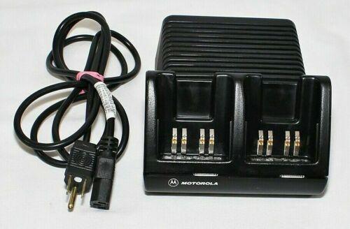 Motorola Visar Dual Shoe Battery Desk Charger AA16742 NTN7510B NTN7510C