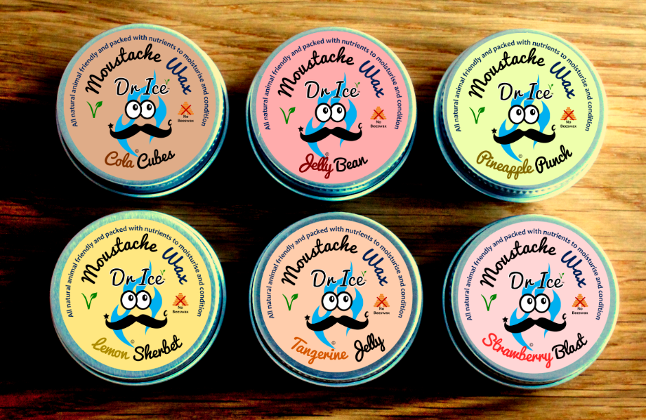 Moustache Wax- Vegan - Argan Oil Based -  Sweet Shop Scents