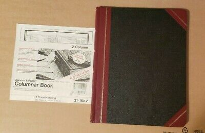Vintage Boorum Pease Accounting Columnar Book 21 150-2 Made In Usa Ships Free
