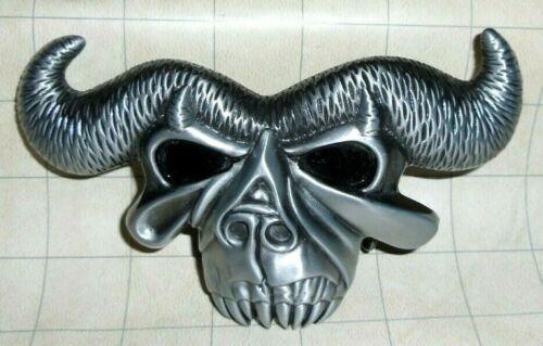 Danzig Lucifuge Skull Metal Belt Buckle OOP