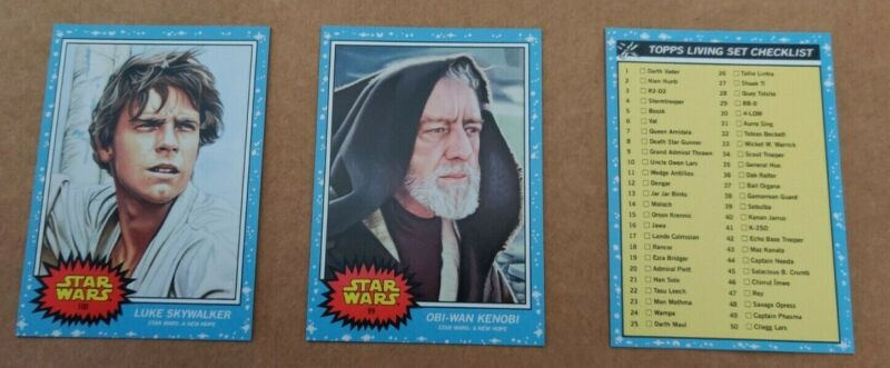 2020 Topps Star Wars Living Set Lot #99/100 Obi-Wan Kenobi, Skywalker +CHECKLIST