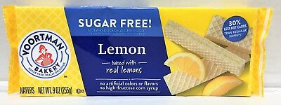 Voortman Sugar Free Lemon Wafers Cookies 9 oz ()