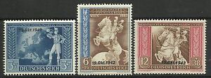 GERMANY. 1942. Postal Union Agreement Set. SG: 813/15. Mint Never Hinged.