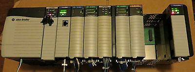 Allen Bradley Controllogix 1756-l63b Pa75b A10b Ob16ex2 Ib16 Cnbeif4fxof2f
