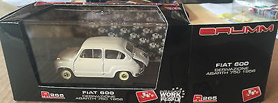 Die Cast Brumm ' Fiat 600 Junction Abarth 750 - 1956 Celeste' R265 1/43 for sale  Shipping to Canada