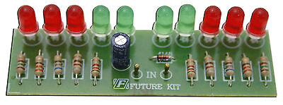2 Way Audio Vu Meter 10 Led No Need Power Supply Assembled Kitfa102