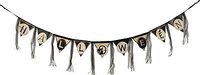 Primitives By Kathy Goth Vintage Style Halloween Pennant Banner Garland