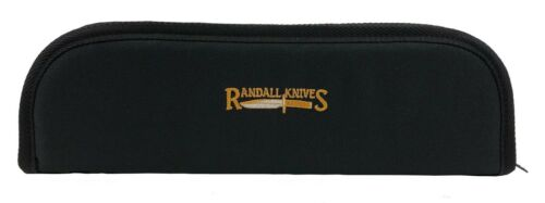 "RANDALL KNIFE CASE with SHEATH STRAPS & EMBROIDERED LOGO - 14"" BLACK - USA MADE!"