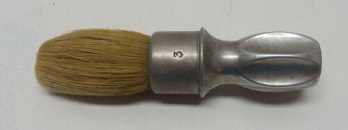 Vintage RUBBERSET #3 Shaving Brush - Metal Base