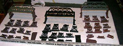 3 X Complete Life-Like & Tyco Trains HO Scale Railroad Bridge & Trestle Set