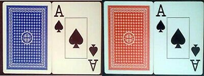 100% Plastic Playing Cards Poker size jumbo index 2 decks