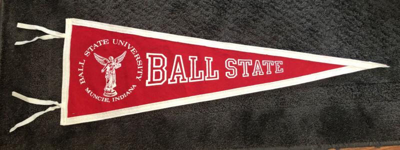 "Vintage BALL STATE University Muncie, Indiana Large Pennant 34"" College"