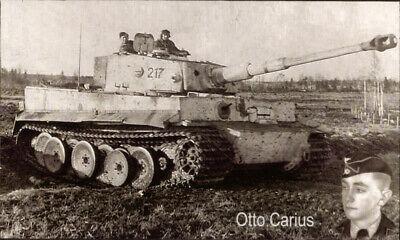 Tiger Panzerkampfwagen V + Otto Carius Wandbild Zweiten Weltkrieg