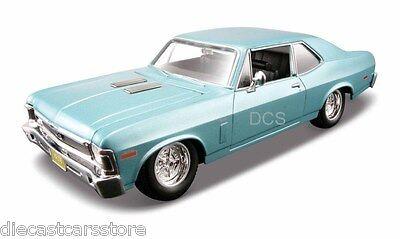 Maisto 1970 Chevy Nova SS Blue 1/24 Diecast Car 31262BL New in Box