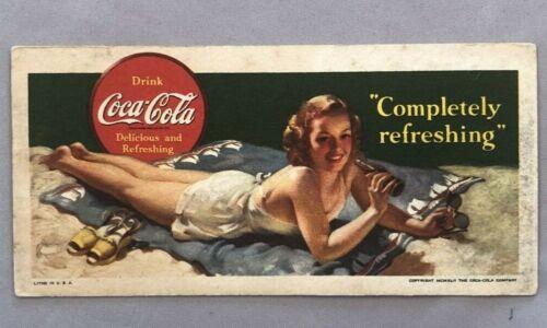 1942 COCA COLA Advertising Ink BLOTTER Vintage Original