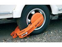 used caravan, motorhome, car, truck, trailer security clamp